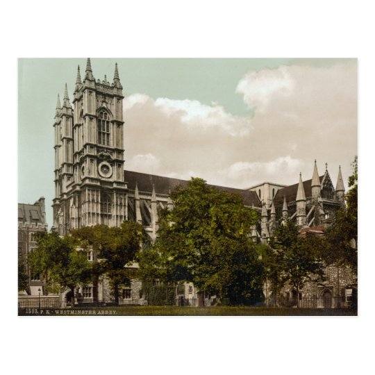Westminster Abbey, London c.1895 Postcard