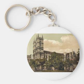 Westminster Abbey, London, England rare Photochrom Basic Round Button Key Ring