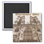 Westminster Abbey Square Magnet