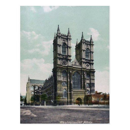 Westminster Abbey Vintage Postcard