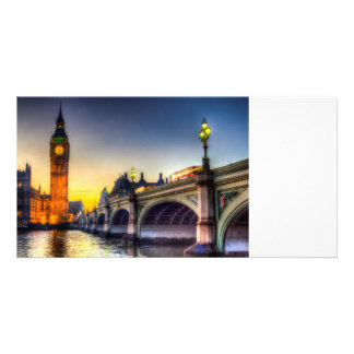 Westminster Bridge and Big Ben Customised Photo Card