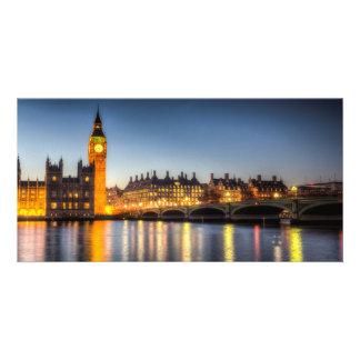 Westminster Bridge and Big Ben Personalised Photo Card