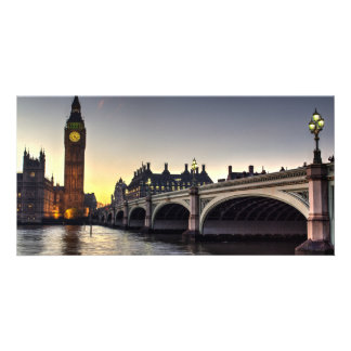 Westminster Bridge and Big Ben Personalized Photo Card