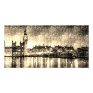 Westminster Bridge and Big Ben Vintage Card