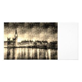 Westminster Bridge and Big Ben Vintage Customised Photo Card