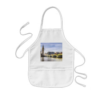Westminster Bridge and London Buses Art Kids Apron