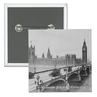 Westminster Bridge and the Houses of 15 Cm Square Badge