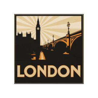 Westminster Bridge Art Deco Style Travel Poster