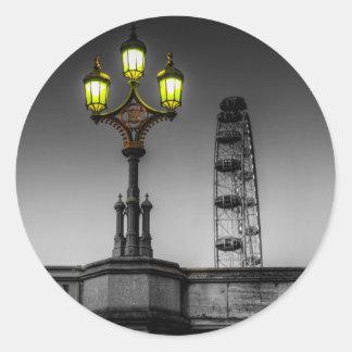 Westminster Bridge Lamp Round Sticker