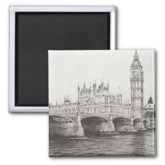 Westminster Bridge London UK. 30/10/2006 Square Magnet