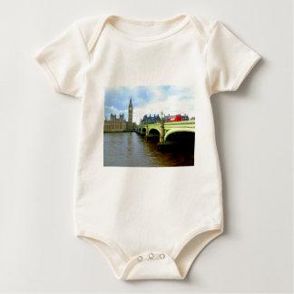 Westminster Bridge, London UK Baby Bodysuit
