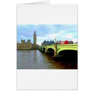 Westminster Bridge, London UK Card