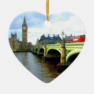 Westminster Bridge, London UK Christmas Ornament