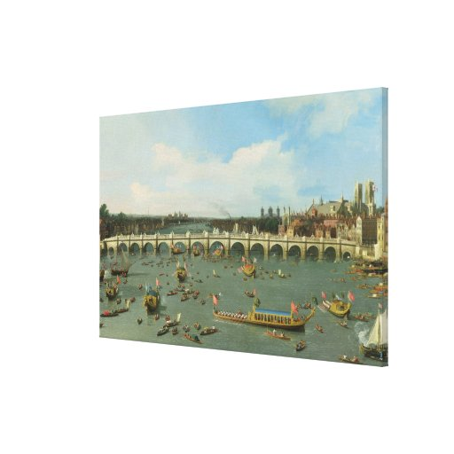 Westminster Bridge, London, With the Lord Mayor's Gallery Wrapped Canvas