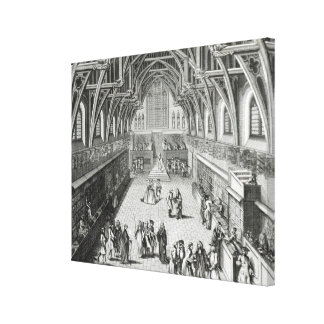 Westminster Hall, The First Day of Term Canvas Print