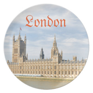 Westminster in London, UK Plate