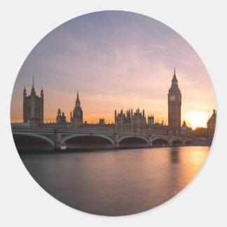 Westminster, London Round Sticker