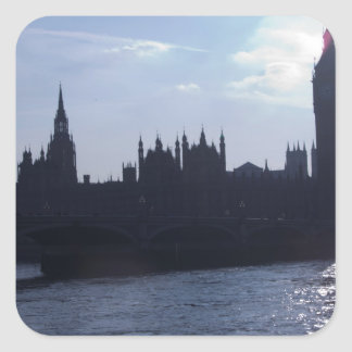 Westminster Palace - Houses of Parliament Square Sticker