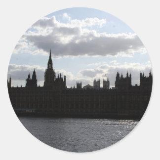 westminster round sticker
