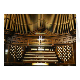 Westminster United Church organ card