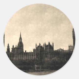 Westminster Vintage art Round Sticker