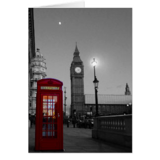 Westminster with red Telephone Greeting Card