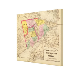 Westmorland, Albert counties, NB Canvas Print