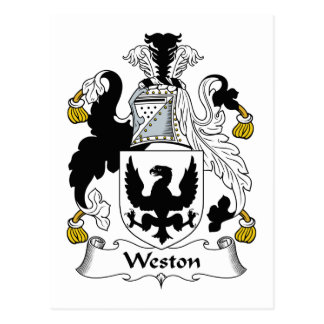 Weston Family Crest Postcard