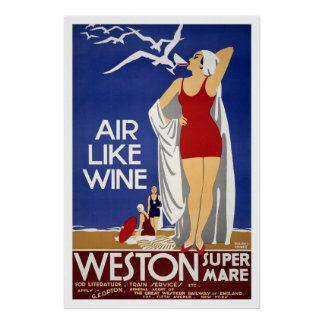 Weston-Super-Mare Vintage Travel Poster