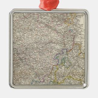 Westphalen, RheinPrivinz, Hessen Silver-Colored Square Decoration