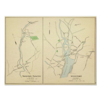 Westport, Sandy Hook, Rocky Glen Poster