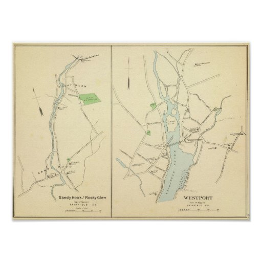 Westport, Sandy Hook, Rocky Glen Poster