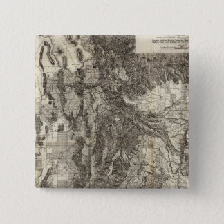 West's New Sectional and Topographical Map Of Utah 15 Cm Square Badge