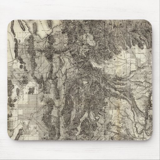 West's New Sectional and Topographical Map Of Utah Mousepad