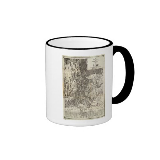 West's New Sectional and Topographical Map Of Utah Coffee Mug