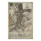West's New Sectional and Topographical Map Of Utah Poster