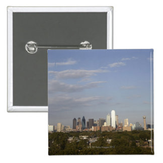 Westside view of the Dallas skyline 15 Cm Square Badge