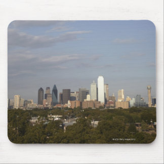 Westside view of the Dallas skyline Mouse Mat