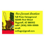 Westward Ho West Traveling Contact RVing Camp Card Business Card