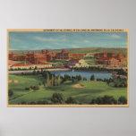 Westwood Hills, CA - View of U.C.L.A. Campus Poster