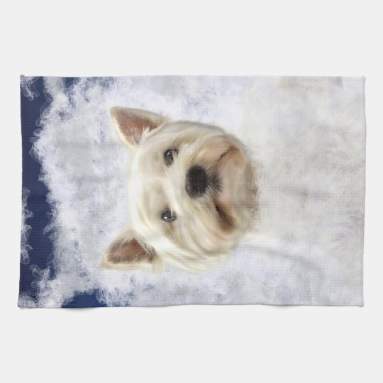 Westy in the Clouds Tea Towel