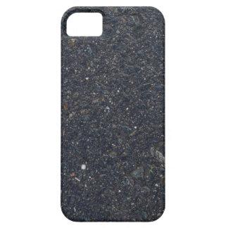 wet asphalt texture pattern bitumen pitch black ba barely there iPhone 5 case