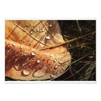 Wet Autumn Leaf - Invitation