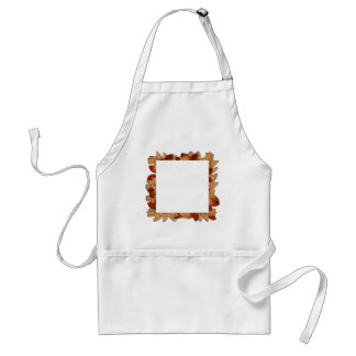 Wet Autumn Leaves Adult Apron