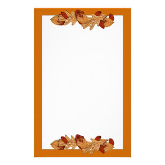 Wet Autumn Leaves Stationery