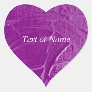 wet color texture,purple heart stickers