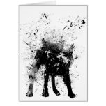 wet dog greeting card