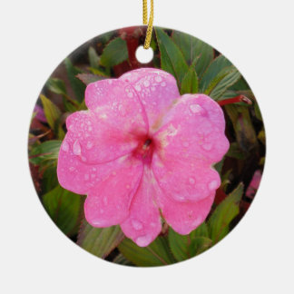 Wet Flower ornament, customize Christmas Ornament