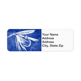 """Wet Fly Blue"" Trout Fly Return Address Label"