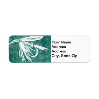 """Wet Fly Green"" Trout Fly Return Address Label"